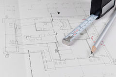 Architect's plan Royalty Free Stock Images