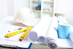 Architect's stuff Royalty Free Stock Image