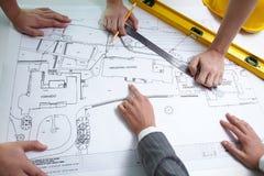 Architect�s teamwork Stock Photos
