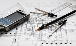 Architect's tools Stock Image