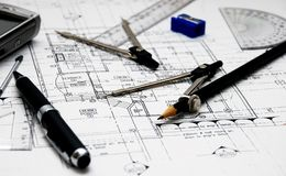Architect's tools Royalty Free Stock Photo
