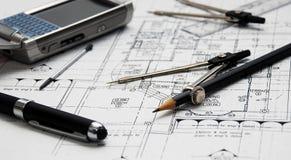 Architect's tools Royalty Free Stock Image