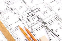 Architect's workspace Stock Photography