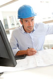 Architect with security helmet on Royalty Free Stock Photography