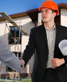 Architect shaking hands with a client Royalty Free Stock Image