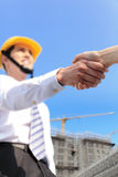 Architect shaking hands Stock Images