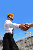 Architect shaking hands Royalty Free Stock Images