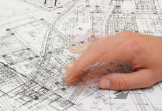 Architect shaking his fingers Stock Photography