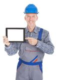 Architect showing digital tablet Royalty Free Stock Photography