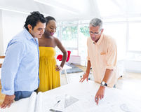 Architect Showing His Plans Royalty Free Stock Images