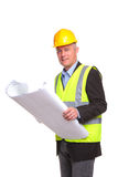 Architect with site drawings Stock Photos