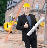 Architect on site Stock Photos