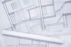Architect Sketch. Royalty Free Stock Image