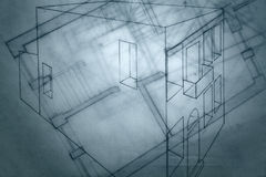 Architect Sketch. Stock Photos