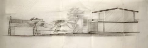 Architect Sketch. Stock Photos