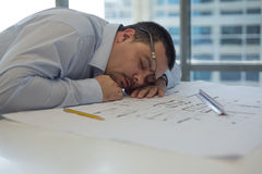 Architect Sleeping Stock Photo