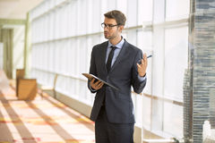 Architect standing giving a presentation Royalty Free Stock Photos