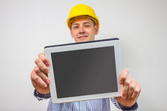 Architect with a tablet pc Royalty Free Stock Photography