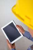 Architect with a tablet pc Stock Photography