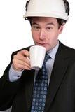 Architect taking coffee break stock photos