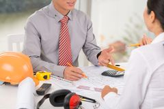 Architect talking with client Stock Photography