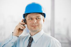 Architect talking on mobile Royalty Free Stock Photo