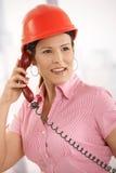 Architect talking on phone Royalty Free Stock Image