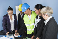 Architect team in office Royalty Free Stock Photo