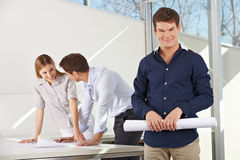 Architect with team in office Stock Photos