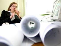 Architect thinking stock photography