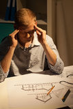 Architect thinking about project Stock Photo