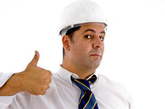 Architect with thumbs up Royalty Free Stock Photography