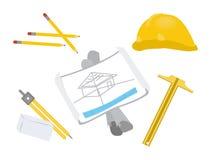 Architect Tools Stock Photo