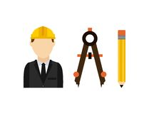 Architect with tools isolated icon design. Vector illustration  graphic Royalty Free Stock Photo