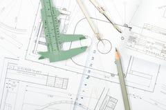 Architect Tools Royalty Free Stock Photography