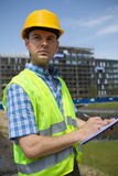 Architect using clipboard Royalty Free Stock Photography