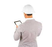 Architect using a tablet computer Royalty Free Stock Photography