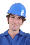 Architect wearing hard hat Royalty Free Stock Photography