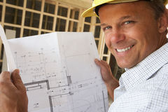 Architect With Plans Stock Photos