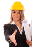 Architect woman Stock Image