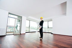 Architect woman Stock Photo