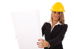 Architect woman Stock Photography