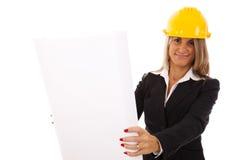 Architect woman Stock Photography