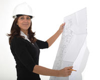 Architect woman Royalty Free Stock Images