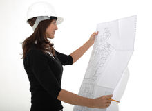 Architect woman Royalty Free Stock Photography