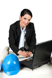 Architect woman working in office Stock Photo