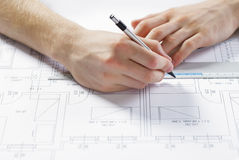 Architect at work Stock Photography