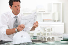 Architect at work Royalty Free Stock Images