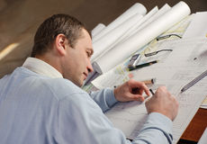 Architect in work. Stock Images
