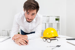 Architect at work Royalty Free Stock Photos